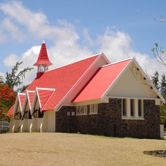Red Roof Church, Cap Malheureux, Mauritius