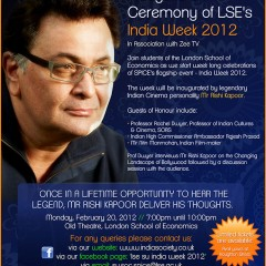 Rishi Kapoor LSE Event Poster