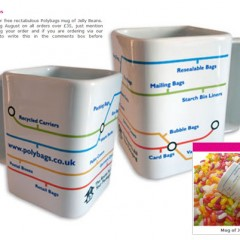 Square Mug, Jelly Beans Promotional Offer