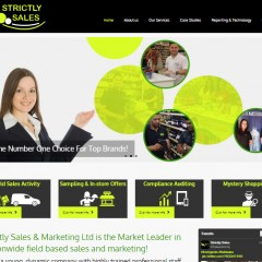 Strictly Sales Website