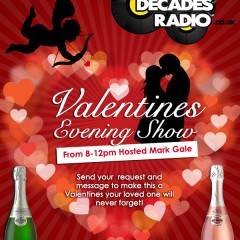 Decades Radio Valentine Facebook Poster