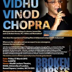 Vidhu Vinod Chopra Talk at SOAS