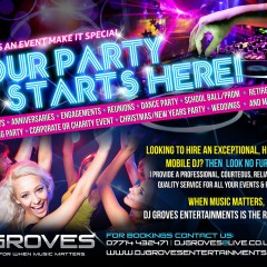 DJGrove Party Flyer