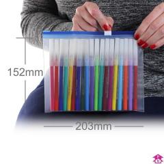 Blue Zip Slider Bag