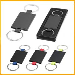 LEATHER LOOK KEY CHAIN