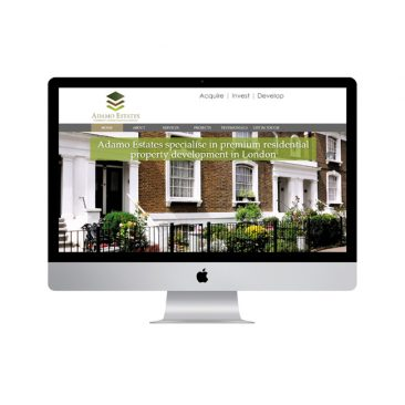 Adamo Estates Web Design